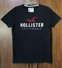 NWT Men's Shirt HOLLISTER Abercrombie Navy Applique Crew T-Shirt  XS, S, M, L