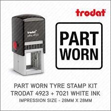 Part Worn Tyre Marking Kit Self Inking Rubber Stamp Trodat 4923 + 7021 Ink