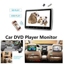 "Car Headrest Monitor DVD Player 10.1"" USB/SD/HDMI Rear-Seat Entertainment System"