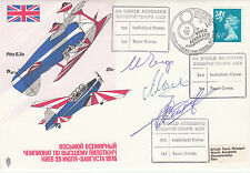 AD21d The World Aerobatic  Championships Signed by 3 Russian Team World Champion