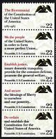 US Constitution #2355 - 2359  Mint NH Se-tenant  Booklet Pane of 5 Preamble