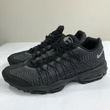 f02d7b66b878f Nike Air Max 95 Ultra Jacquard Running Black Silver Men s 10 Trainer 90 Plus