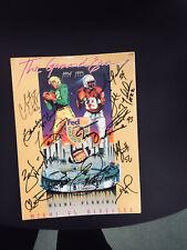 1995 Orange Bowl Program Nebraska Vs Miami Signed By 12 Husker Legends