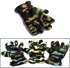 Adult Fleece Gloves In Camouflage Prints   Wholesale 6 Pairs Lot ( EGLV-CAMO)