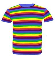 Adults Men's Dyed Flag Gay Pride T-Shirt Rainbow Lesbian LGBT Festival Top Shirt