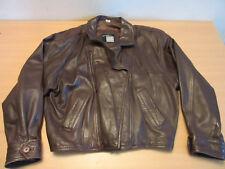 Michael Hoban North Beach Brown Leather Mens Jacket / Coat Sz 44