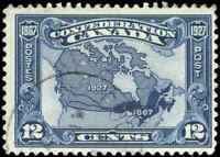 1927 Used Canada F+ Scott #145 12c Confederation Anniversary Stamp