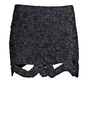 f10898cacd Authentic Aje Black Sequin Skirt Mini Size 6 Catara