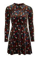 BNWT TOPSHOP MULTI Ditsy Velvet Flippy Dress UK 10