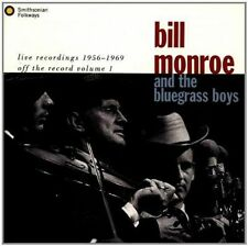 Live Recordings 1956-1969 by Bill Monroe (CD, Oct-1993, Smithsonian Folkways Recordings)