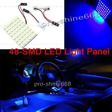 2X Blue LED Dome Map Interior Light Bulb SMD 48-LED Panel Xenon HID Lamp 194