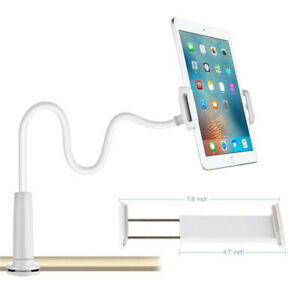 360 Gooseneck Table Bed Clamp Stand Holder Mount For iPad Tablet Flexible Arm