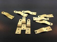 Set of 10 Brass Latches for Small to Medium Clocks