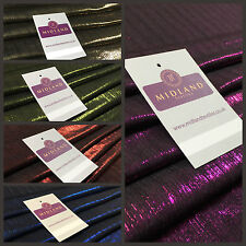 "Shiny Metallic Corduroy Lame 1 way stretch Dress Fabric 40"" wide M699 Mtex"