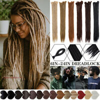 "24"" Dreadlock Dread Lock Twist Crochet Braid Faux Locs Hair Extensions for Human"
