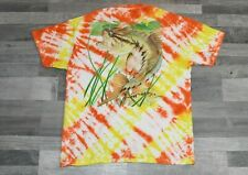 Guy Harvey Tie Dye T Shirt Medium M Short Sleeve Graphics Fish On Back OOAK