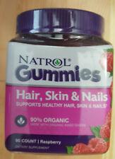 Natrol Gummies Biotin 5,000 mcg Hair Skin and Nails Raspberry 90 Count EXP 01/22
