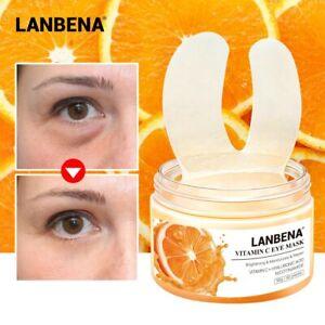 Comestics 50Pcs Vitamin C Eye Patches Firming Brighten Lifting Repair Eye Serum