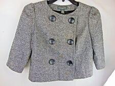 Banana Republic Grey Wool Crop Jacket Blazer Medium Fully Lined NICE!!!!