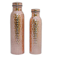 2 Pcs 100% Copper hammered Drinking Water Bottle Ayurvedic vessel