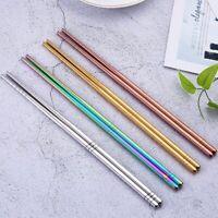 Stainless Steel Tableware Chopstick Dishware Antiskid Household Metal Food Stick