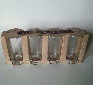 Vintage Mid Century Anchor Hocking Drinking Glasses Unused With Original Box