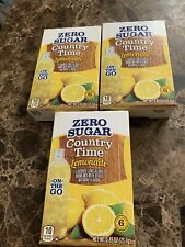 3 Country Time Zero Sugar Lemonade Single To Go! 18packets total