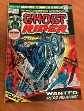 Ghost Rider #1 1st cameo app Damien Hellstrom Marvel Comics 1973 FN+