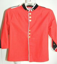 Vintage child size red wool felt military army tunic jacket age 4-5yrs Steampunk