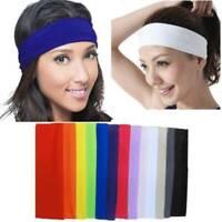 Fashion Womens Mens Unisex Sweat Sweatband Headband Yoga Gym Hair Band Stretch