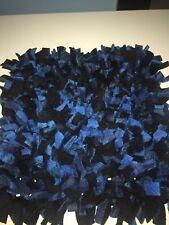 Handmade Blue Plaid & Black Interactive Pet Mat/ Nosework/Snuffle/Pet Toy 24x12