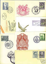 AUSTRIA 1950's SIX POSTAL CARDS WITH EVENT OR FDC