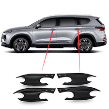 Carbon fiber Car Door Handle Bowl Decorative Cover Trim For2019 Hyundai Santa Fe