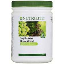 Amway Nutrilite Soy Protein Drink Low Fat Green Tea Flavor 4 x 450g - Expedite