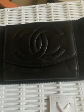 Chanel Black Caviar Wallet Coin Purse Card Holder 100% Authentic with Card