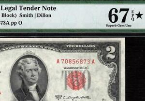 1953b $2 Red Seal Legal Tender Note • FR. 1511 • PMG 67 EPQ *Star Designation
