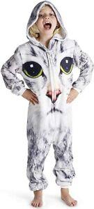 CityComfort Cat All in One Fleece Twosie Children Pyjamas Jumpsuit for Kids