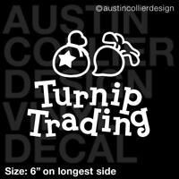 "6"" TURNIP TRADING Vinyl Decal Car Window Sticker - animal crossing tom nook gift"