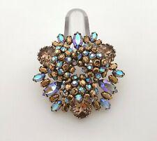 SCHREINER Jewelry Rhinestone Brooch Pin Unsigned Statement Aurora Borealis