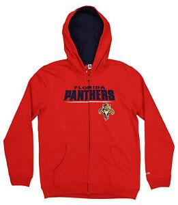 Reebok NHL Florida Panthers Youth Boys (8-20) Stated Full Zip Hoodie