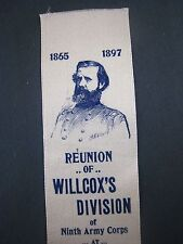 ORIGINAL GAR RIBBON..WILLCOX DIVISION..9TH ARMY CORP..1898..MEDAL OF HONOR # 2