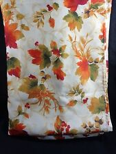 THANKSGIVING TABLECLOTH Fall Autumn Leaves Fabric 78 x 54 in Rectangle