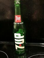 Vintage Green 7 Up Soda Bottle