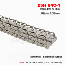 """#25SS Stainless Steel Roller Chain Pitch 1/4"""" 6.35mm 25H-1/04C-1 Roller Chain"""