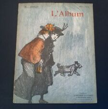 Vintage Steinlen L'album 1901 Chat Noir Chats Cats Beautiful Lithographs