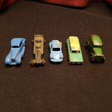"Lot 5 Vtg Toy Cars/Trucks 4 Pressed Steel Tootsietoy 1 Cast Iron Small 2""-21/2"""