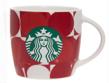 ☕ 14oz Ceramic Red Circles/white, Beverage/Coffee/Tea/Cocoa Mug/Cup Starbucks