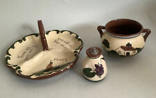 More details for longpark / st marychurch pottery torquay motto ware- scent bottle, dish, bowl