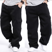 Cargo Mens Baggy Hip Hops Long Pants Athletic Sweatpants Leisure Trousers Hot Sz