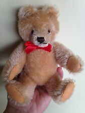 """Rare Antique Vintage Steiff Bear 7"""" Fully Jtd No Id Sweet Masked Face Buy Now Nr"""